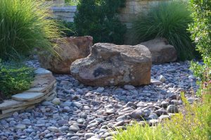 Dry Creek Bed with pebbles and rocks